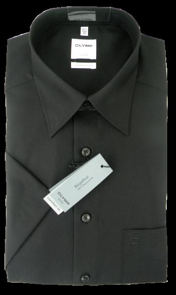 1/2 Arm Businesshemd in schwarz