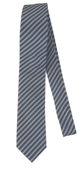 Krawatte reine Seide in Bleu/Anthra gestreift