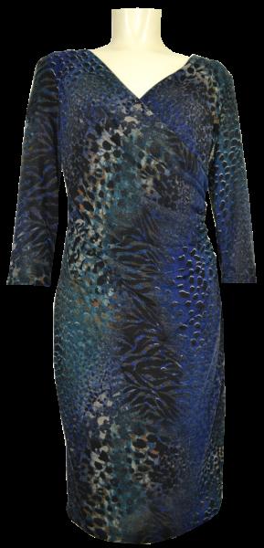 Edles Jersey Kleid in mehrfarbig gemustert