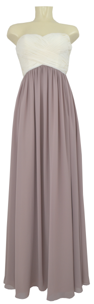 Ballkleid lang in new white/taupe