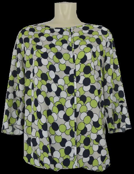 3/4 Arm Blusen-Shirt mit rundem Ausschnitt