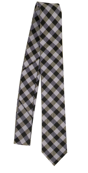 Krawatte Reine Seide in modisch Lila kariert