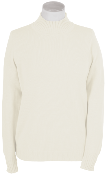 Antiallergischer Pullover mit Stehbund in wollweiß