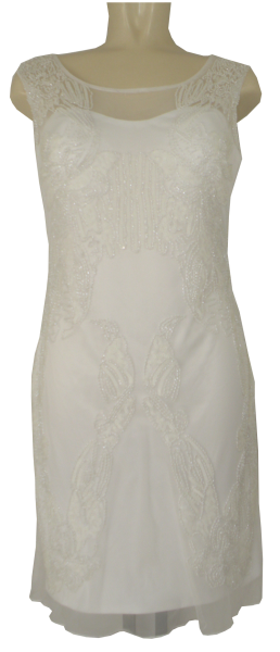 Cocktailkleid in cream white