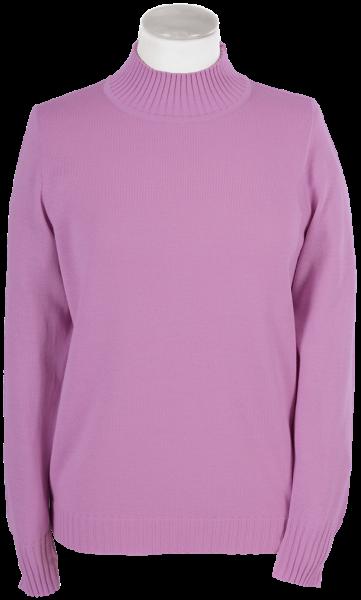Antiallergischer Pullover mit Stehbund in rose