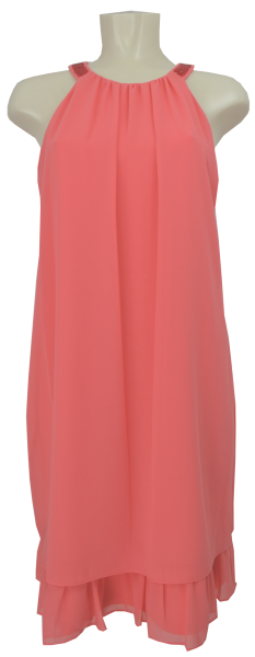 Mittellanges Kleid in light coral