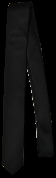 Krawatte reine Seide in uni schwarz
