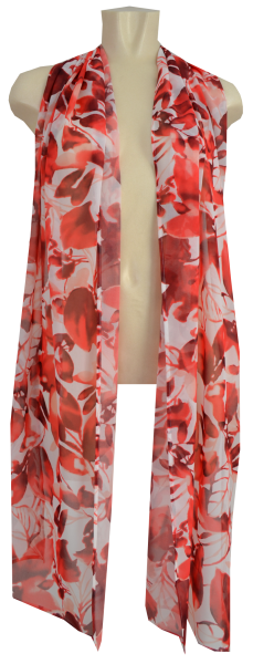 Chiffon Schal in Red Pink Shades