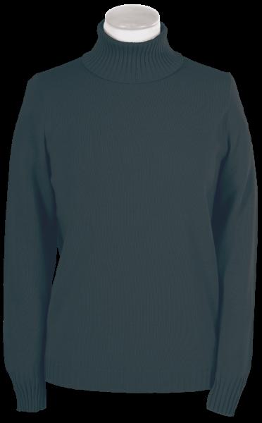Antiallergischer Pullover mit Rollkragen in teer (anthra)