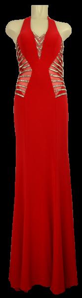 Ballkleid lang in red