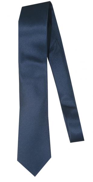 Krawatte reine Seide Uni Mittel-Blau