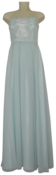 Ballkleid lang in jade mint-white
