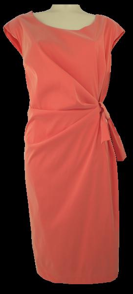 Mittellanges Kleid in orange