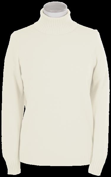 Antiallergischer Pullover mit Rollkragen in wollweiß