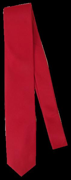 Krawatte reine Seide in uni Rot