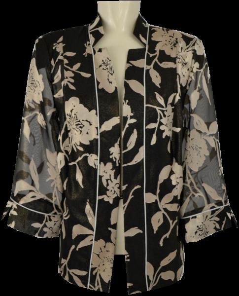 Blazer Jacke in schwarz-gold gemustert