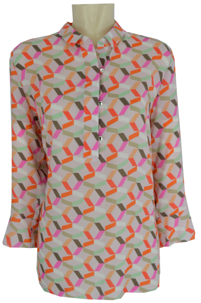 3/4 Arm Bluse in allover gemustert
