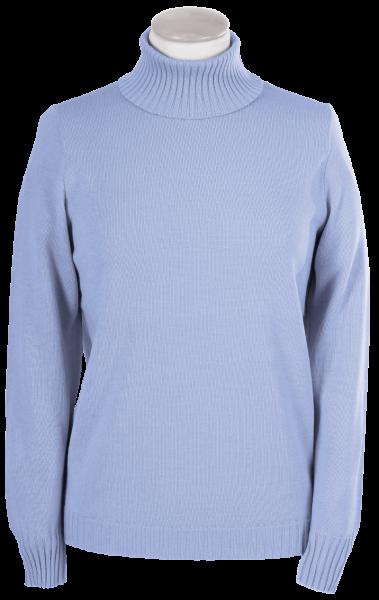 Antiallergischer Pullover mit Rollkragen in bleu