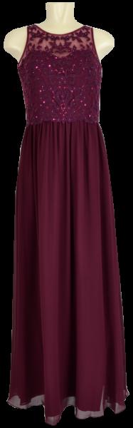 Langes Ballkleid in velvet rouge