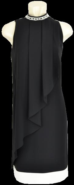 Elegantes mittellanges Kleid in schwarz