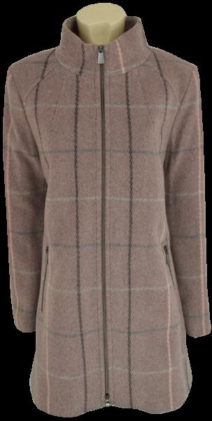 Kurzmantel in A-Form mit Wolle und Cashmere