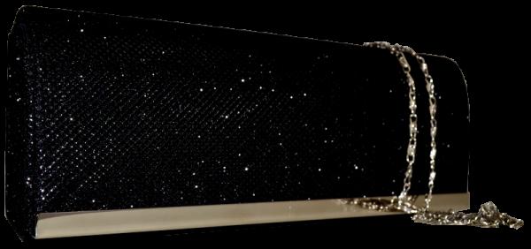 Festliche Tasche in schwarz mit Glitzer