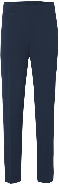 Schmal geschnittene Hose ohne Bund in marine blau
