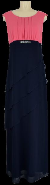 Collierkleid in rouge-marine blau