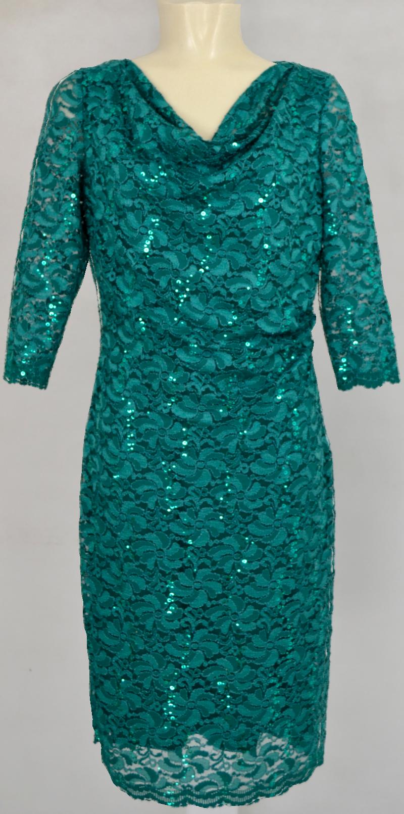 Mittellanges Abendkleid von Vera Mont in green ivy | Mode ...