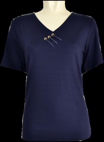 1/2 Arm T-Shirt in dunkel Blau