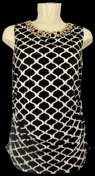 Edles Shirt in schwarz-weiß