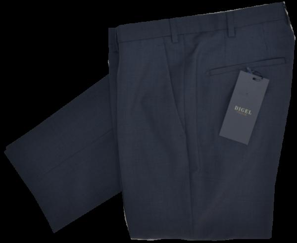 Anzug Hose SLIM FIT in dunkel blau mit Struktur