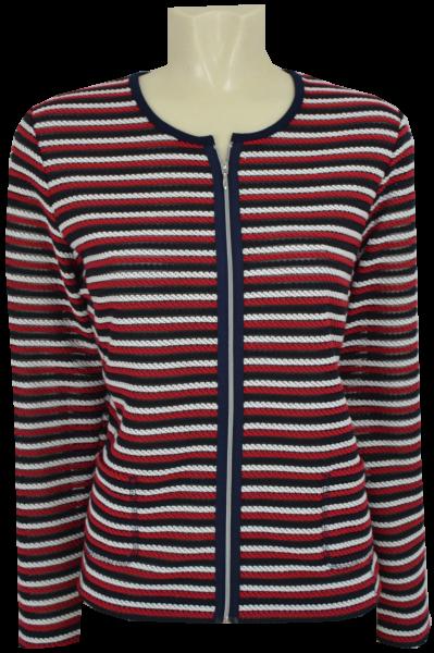Blazer Jacke in mehrfarbig gemustert mit rot