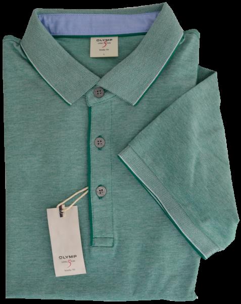 1/2 Arm Polo Shirt in mittel grün meliert