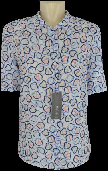 1/2 Arm Bluse in mehrfarbig gemustert