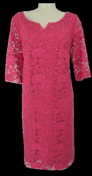Mittellanges Abendkleid in Farbe himbeere