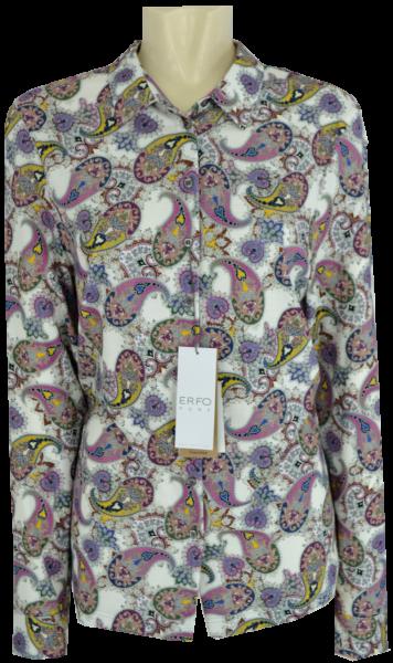1/1 Arm Jersey Bluse mehrfarbig mit Paisley Dessin