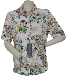1/2 Arm Blusen-Shirt in allover floral gemustert