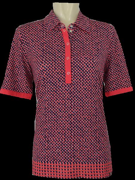1/2 Arm Polo Shirt in mehrfarbig gemustert