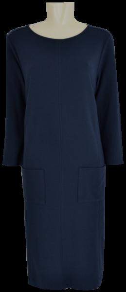 Jersey Kleid in dunkel blau