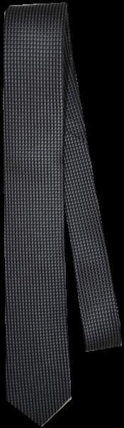 Krawatte reine Seide in schwarz mit Mini Sruktur in grau