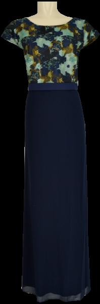 Langes Abendkleid mit überschnittenem Arm