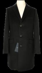 Taillierter Kurzmantel in schwarz