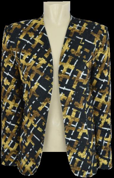 Edle Blazer-Jacke in schwarz-gold-ecru