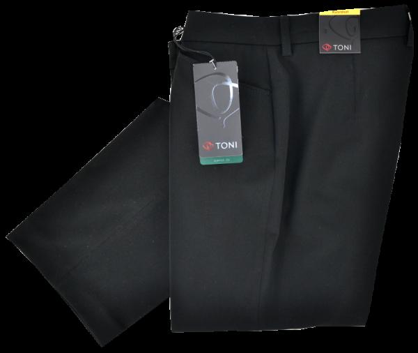 Leichte Stoffhose in schwarz
