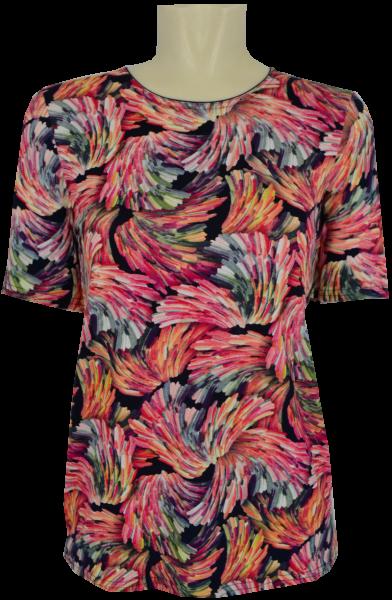 1/2 Arm T-Shirt mit floralem Druck