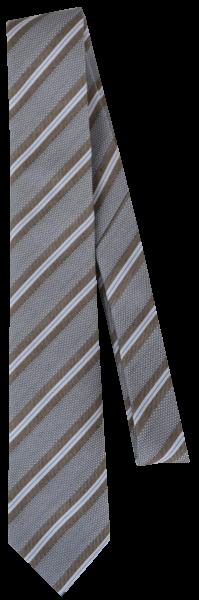 Krawatte reine Seide in beige-braun mit Streifen