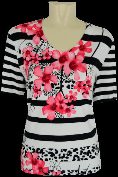 1/2 Arm Shirt in mehrfarbig floral gemustert