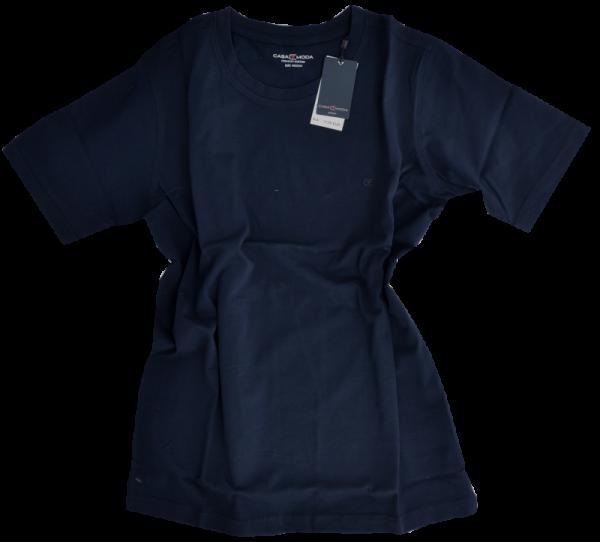 1/2 Arm T-Shirt in uni dunkel blau