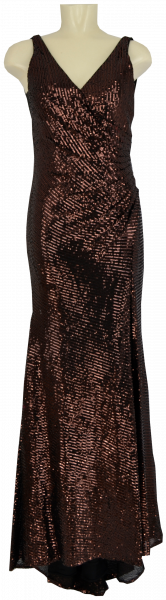 Ballkleid lang in black-brown